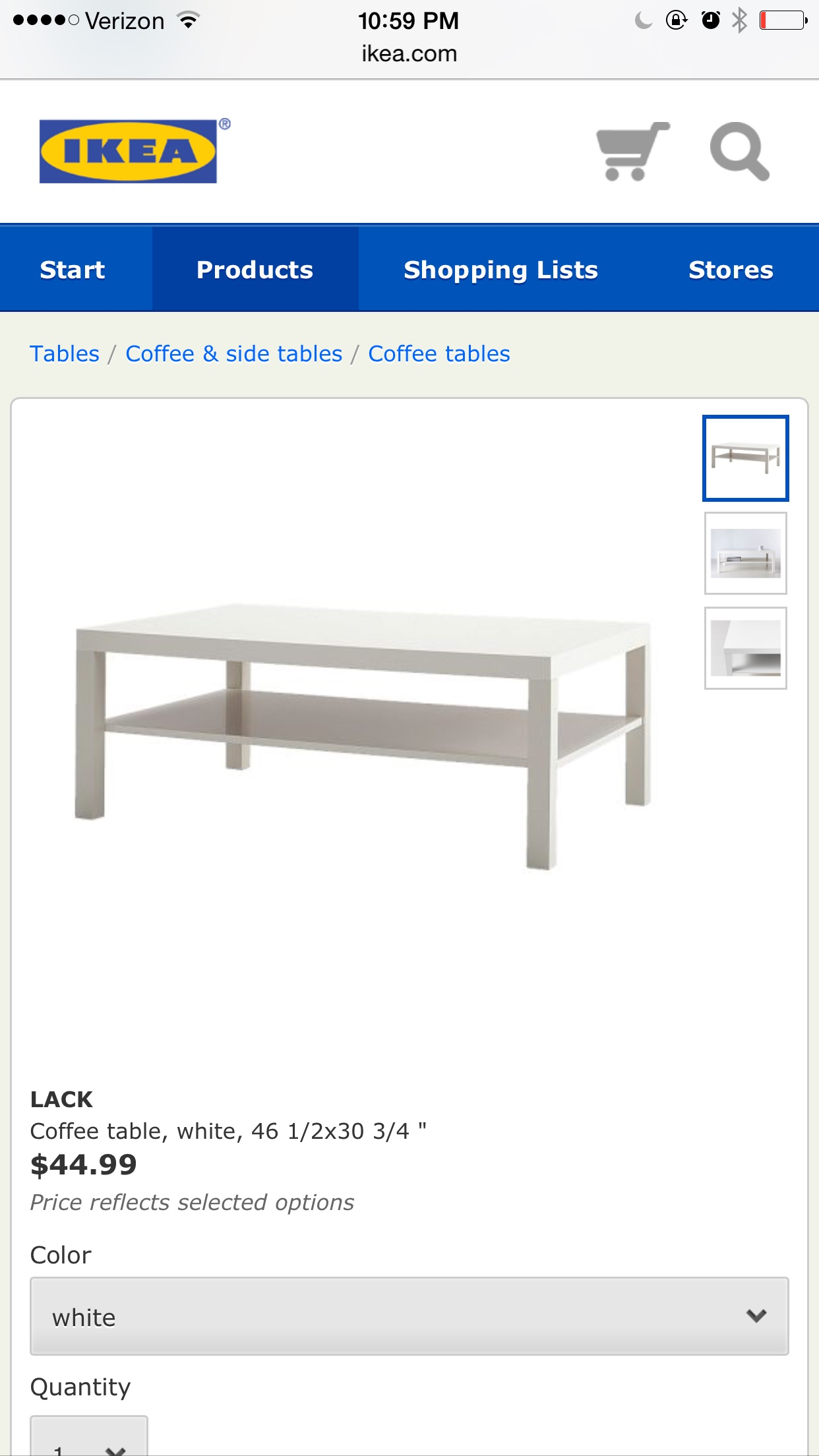 Ikea lack coffee table hack paint the world white by brynne go to your local home depot and buy three sample size behr paints in these color matched colors revere pewter ashwood and texas leather geotapseo Gallery